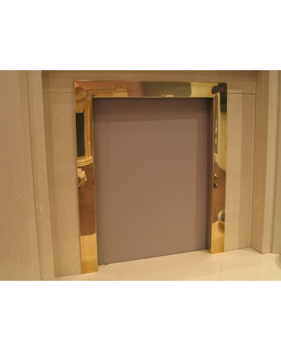 "Fire Frame/Trim coal and gas Brass 16""-18"""