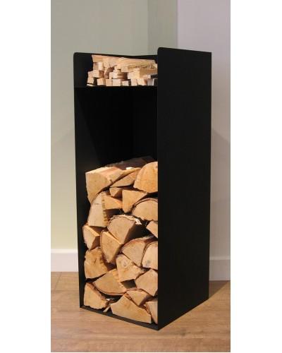 Steel Log Holder black