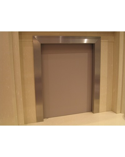 "Fireplace Frame/Trim Brushed Stainless steel 16""-18"""