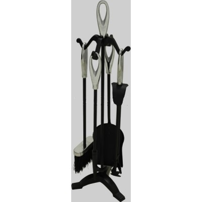 Fireside Companion Set Loop Top Black/Chrome