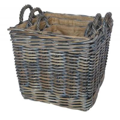 Azul square log baskets