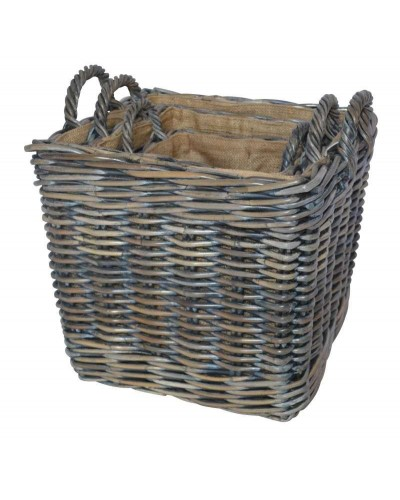 Azul square log baskets