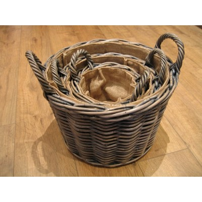 Azul Round log baskets
