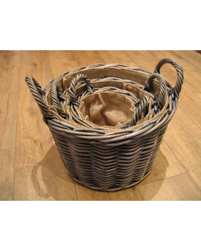 Azul Round log baskets