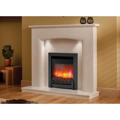 J&R HILL Oulton micro-marble fireplace