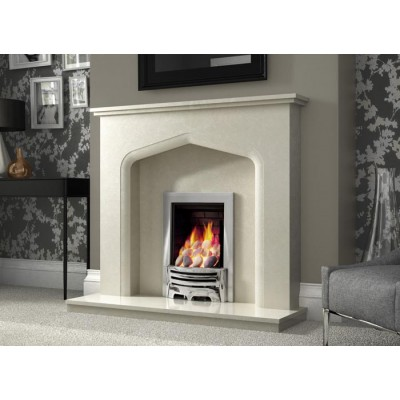 J&R HILL Sandon micro-marble fireplace