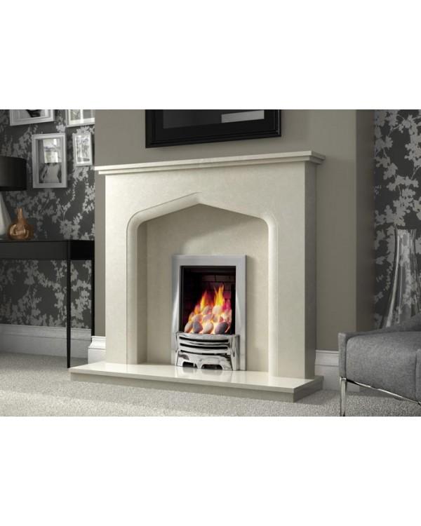 J&R HILL Sandon micro-marble fireplace