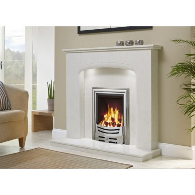 J&R HILL Draycott micro-marble fireplace