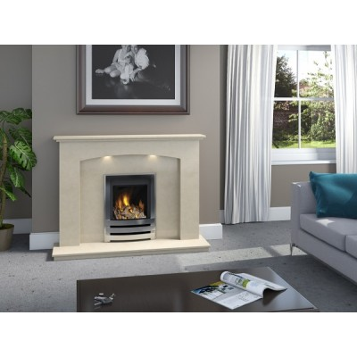 J&R HILL Fulford micro-marble fireplace