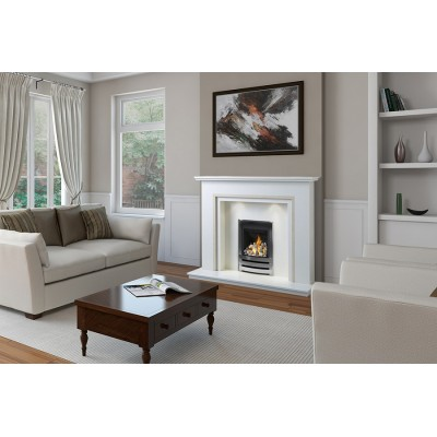 J&R HILL Denstone micro-marble fireplace