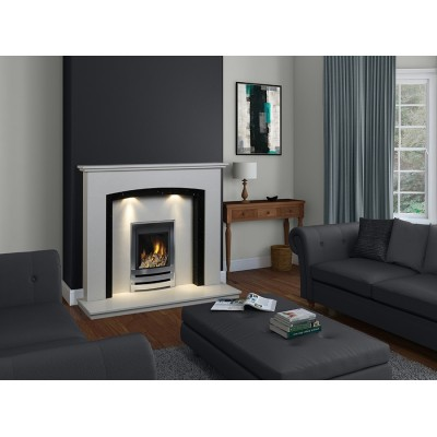 J&R HILL Oakamoor micro-marble fireplace