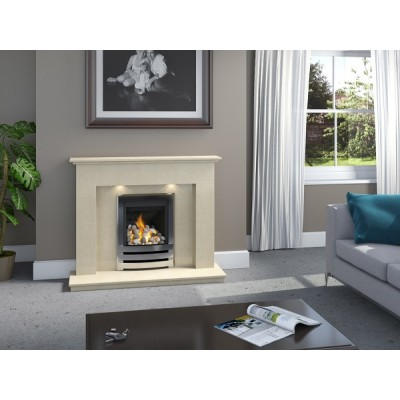 J&R HILL Milwich micro-marble fireplace