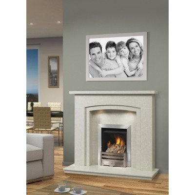 J&R HILL Doric micro-marble fireplace