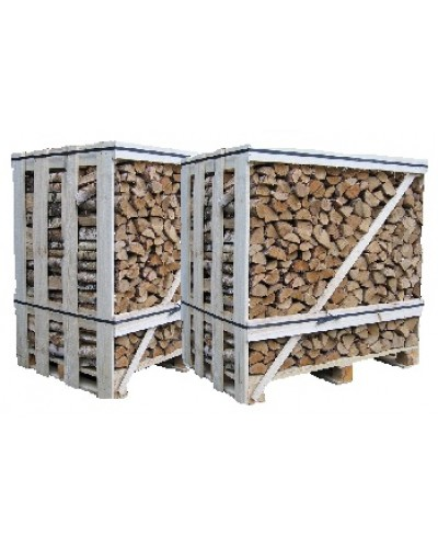 Kiln Dried logs 2 x 1.2 cubic metre crate