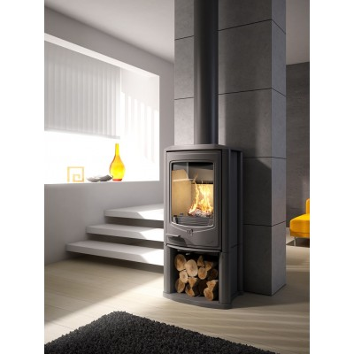 Seguin Jade log store Woodburning Defra approved Stove