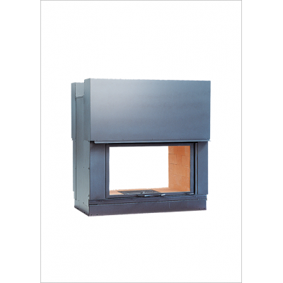 Wood burning firebox Seguin DF 1000 H double sided