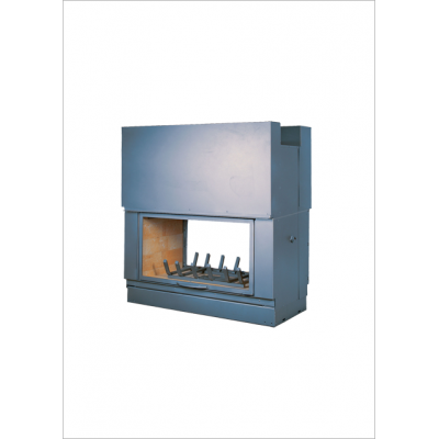 Wood burning firebox Seguin DF 1200 H double sided