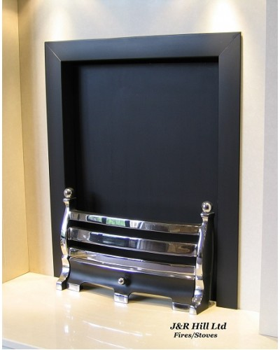 "Fire Trim - Frame Open Coal Fire Matt Black 16"" 18"""