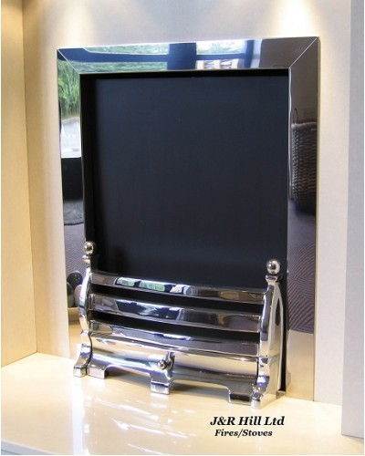 "Fire Trim - Frame Open Coal Fire Chrome 16""-18"""
