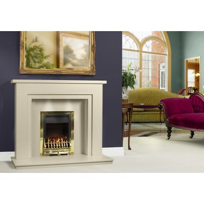 J&R HILL Comforto micro-marble fireplace