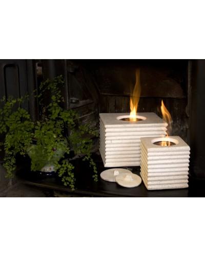 White cube gel fire burner